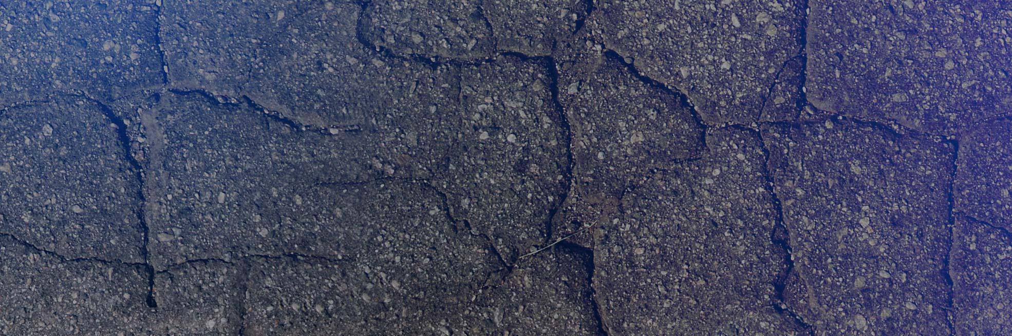 asphalte craqué